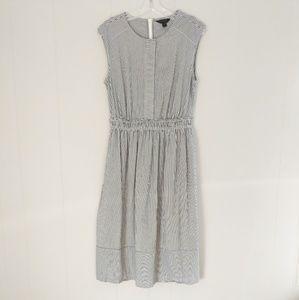 J. Crew Gray & White Striped Dress Size 8T